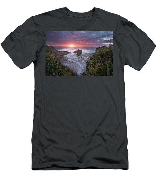 Punakaiki Men's T-Shirt (Slim Fit) by Racheal Christian
