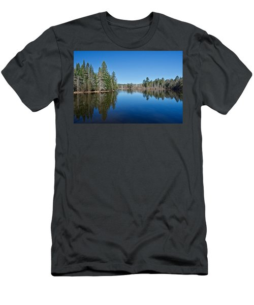 Men's T-Shirt (Slim Fit) featuring the photograph Pure Blue Waters 1772 by Michael Peychich