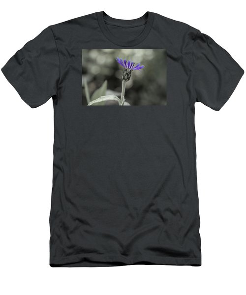 Purple And Grey Men's T-Shirt (Athletic Fit)