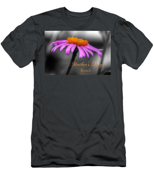 Men's T-Shirt (Slim Fit) featuring the photograph Purple And Orange Coneflower Mothers Day Brunch by Shelley Neff