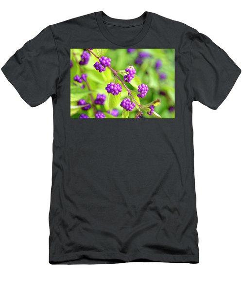 Purple Berries Men's T-Shirt (Athletic Fit)