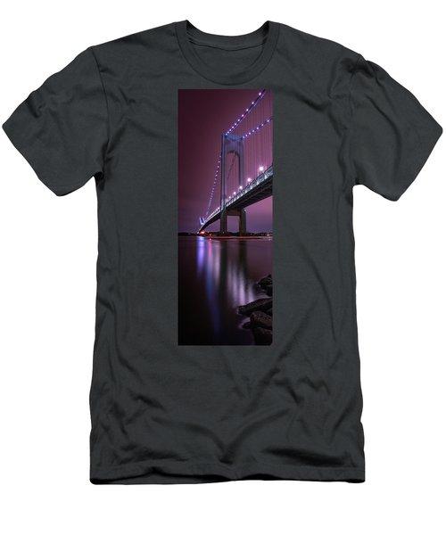 Men's T-Shirt (Athletic Fit) featuring the photograph Purple Bridge by Edgars Erglis