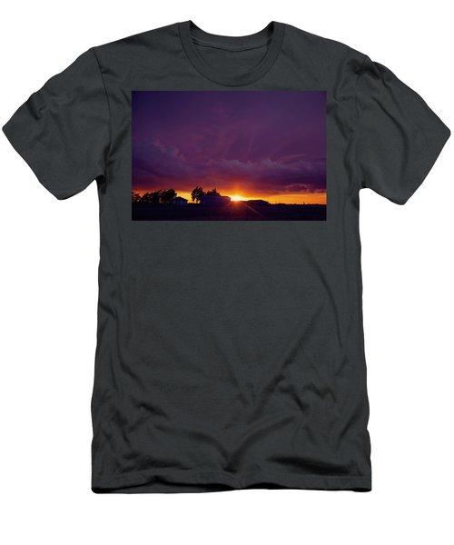 Purple Clouds Men's T-Shirt (Slim Fit) by Toni Hopper