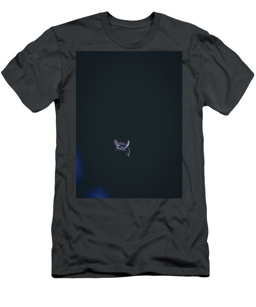 Men's T-Shirt (Slim Fit) featuring the photograph Purple Feather1 by Timothy Latta
