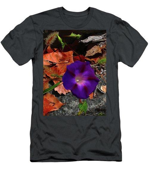 Purple Flower Autumn Leaves Men's T-Shirt (Athletic Fit)
