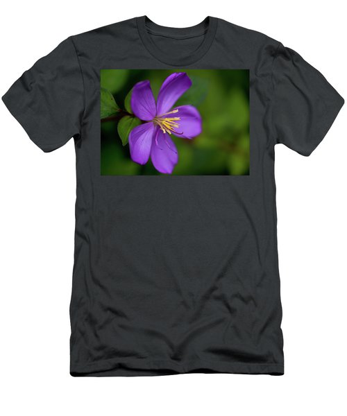 Purple Flower Macro Men's T-Shirt (Athletic Fit)