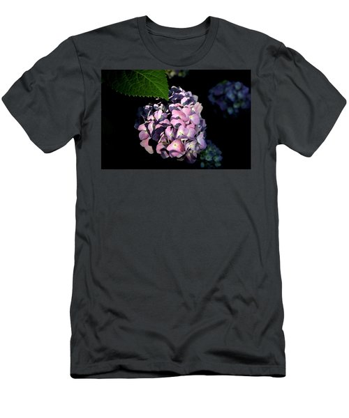 Men's T-Shirt (Athletic Fit) featuring the photograph Purple Hydrangea In Morning Light by Sheila Brown