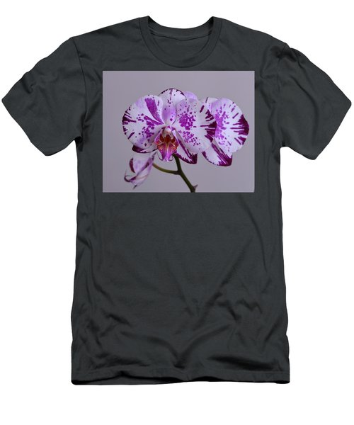 Purple Moth Orchid Men's T-Shirt (Slim Fit) by Kathy Eickenberg