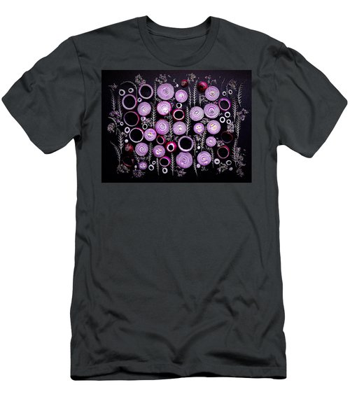 Purple Onion Patterns Men's T-Shirt (Athletic Fit)