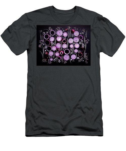 Purple Onion Patterns Men's T-Shirt (Athletic Fit)