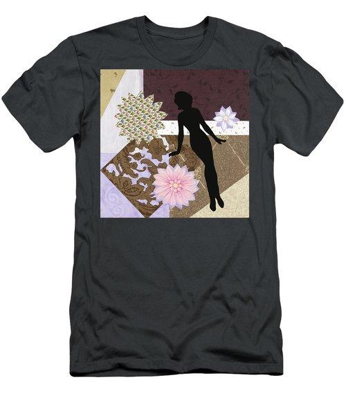 Purple Paper Doll Men's T-Shirt (Athletic Fit)