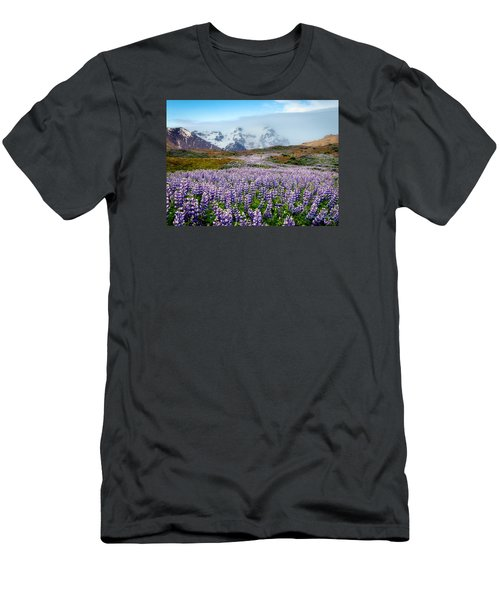 Purple Pathway Men's T-Shirt (Slim Fit) by William Beuther
