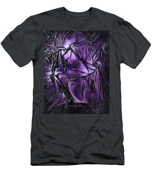 Purple Pedals Men's T-Shirt (Slim Fit) by Angela Stout