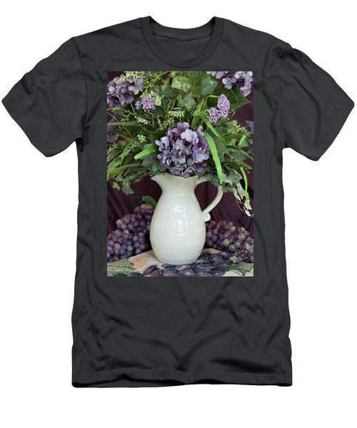 Men's T-Shirt (Slim Fit) featuring the photograph Purple Pleasures by Sherry Hallemeier