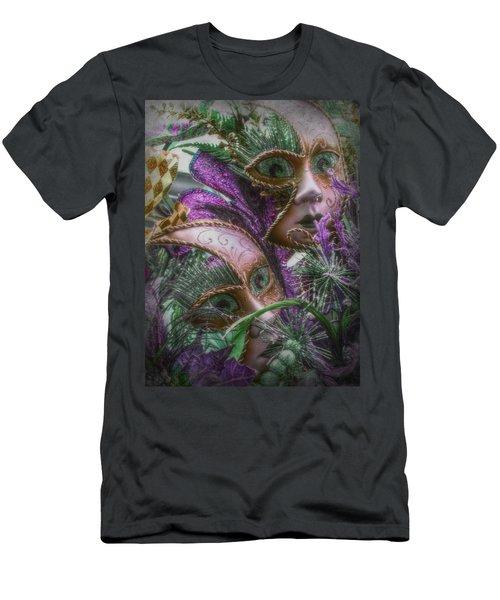 Purple Twins Men's T-Shirt (Athletic Fit)