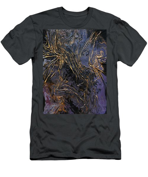 Purple With Texture Men's T-Shirt (Athletic Fit)