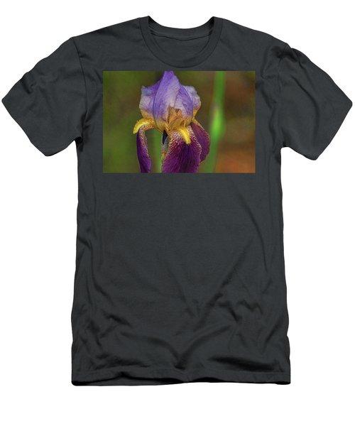 Purplish Iris Men's T-Shirt (Athletic Fit)