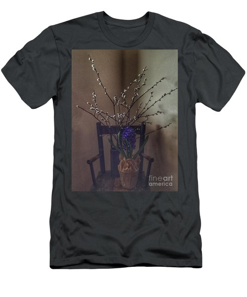 Pussy Willow And Hyacinth Still Life Men's T-Shirt (Athletic Fit)