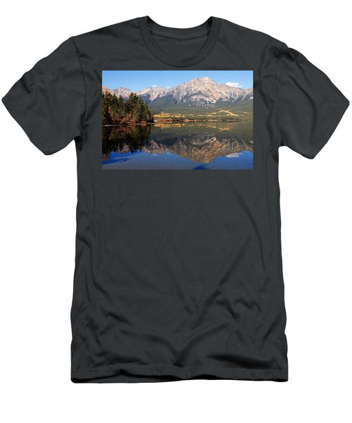 Pyramid Mountain And Pyramid Lake 2 Men's T-Shirt (Athletic Fit)