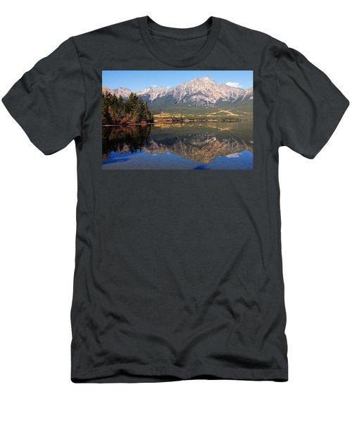 Pyramid Mountain And Pyramid Lake 2 Men's T-Shirt (Athletic Fit)