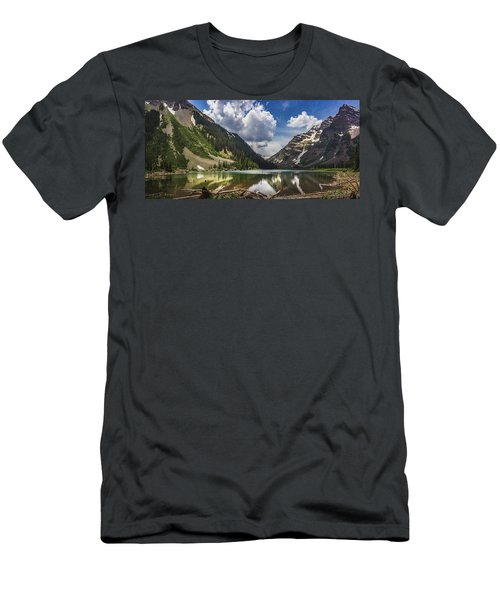 Pyramid Peak, Maroon Bells, And Crater Lake Panorama Men's T-Shirt (Athletic Fit)