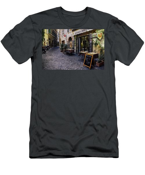 Quaint Cobblestones Streets In Rome, Italy Men's T-Shirt (Athletic Fit)