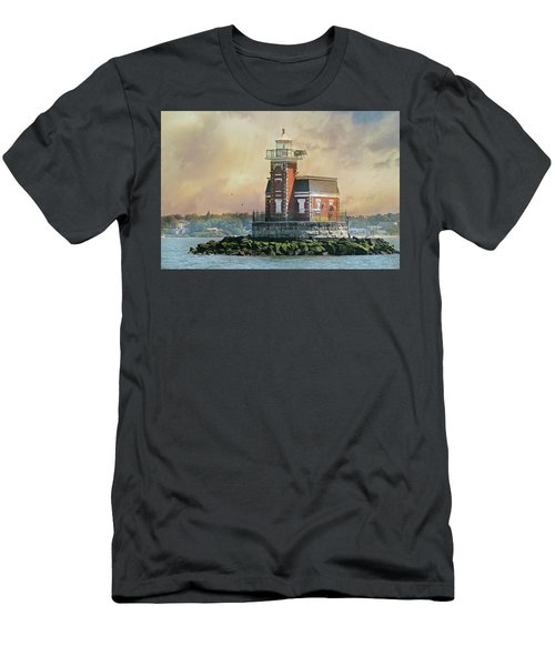 Quaint Stepping Stones Lighthouse Men's T-Shirt (Athletic Fit)