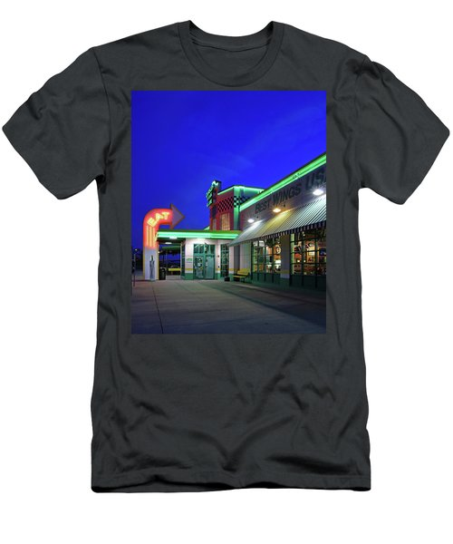 Men's T-Shirt (Slim Fit) featuring the photograph Quaker Steak And Lube by Christopher McKenzie