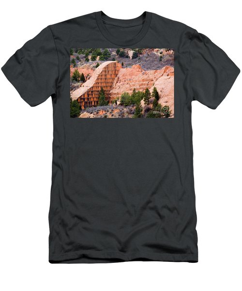 Quarry Closup At Red Rock Canyon Colorado Springs Men's T-Shirt (Athletic Fit)