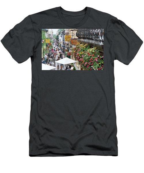 Men's T-Shirt (Athletic Fit) featuring the photograph Quartier Petit Champlain by John Schneider