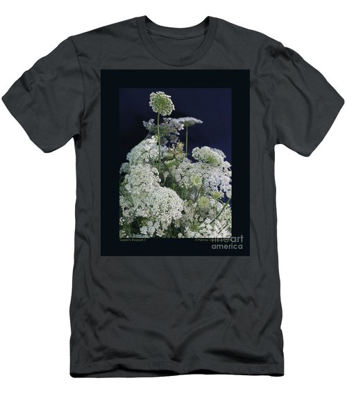 Queen's Bouquet-ii Men's T-Shirt (Slim Fit) by Patricia Overmoyer