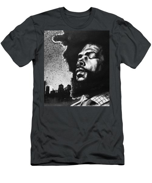 Men's T-Shirt (Slim Fit) featuring the painting Questlove. by Darryl Matthews