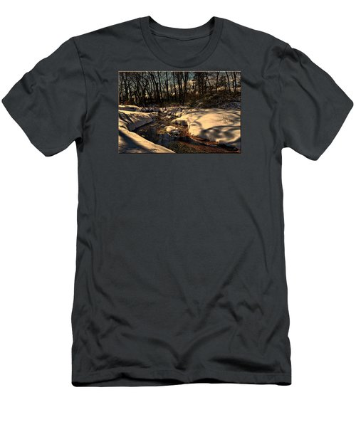 Quiet Brook On A Snowcovered Landscape Men's T-Shirt (Athletic Fit)