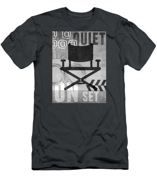 Quiet On Set- Art By Linda Woods Men's T-Shirt (Athletic Fit)