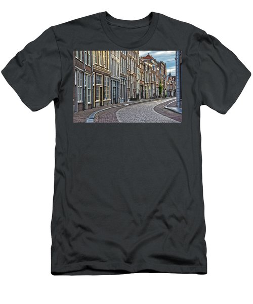 Quiet Street In Dordrecht Men's T-Shirt (Athletic Fit)
