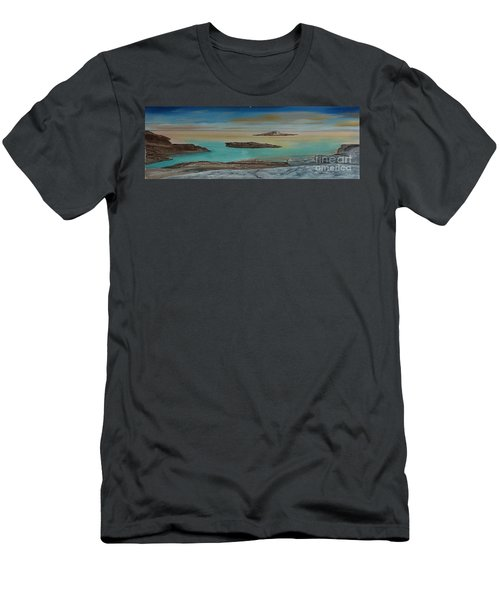 Quiet Tropical Waters Men's T-Shirt (Slim Fit) by Rod Jellison