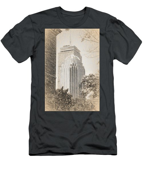 R2d2 Building And The Prudential Center Men's T-Shirt (Athletic Fit)
