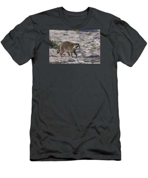 Raccoon On The Beach Men's T-Shirt (Athletic Fit)