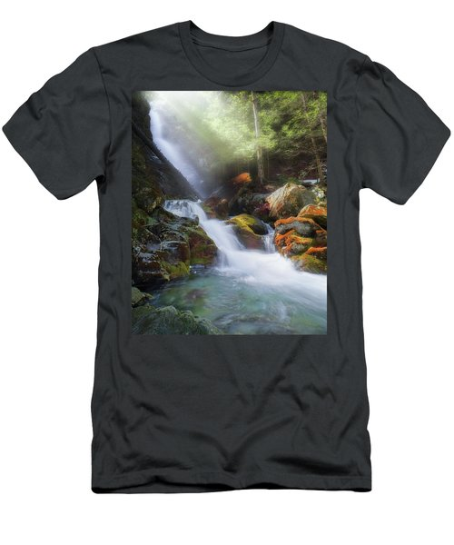 Men's T-Shirt (Slim Fit) featuring the photograph Race Brook Falls 2017 by Bill Wakeley