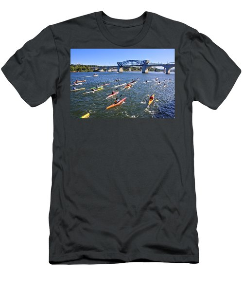 Race On The River Men's T-Shirt (Athletic Fit)