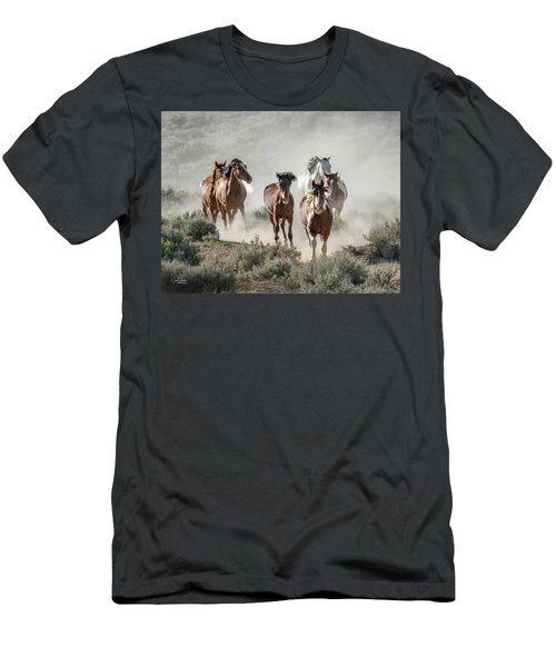 Racing To The Water Hole Men's T-Shirt (Athletic Fit)