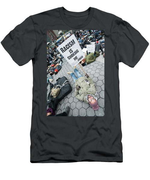 Racism Is Choking Me Men's T-Shirt (Athletic Fit)
