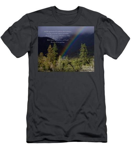 Men's T-Shirt (Slim Fit) featuring the photograph Radiance Of The Rainbow by Debby Pueschel