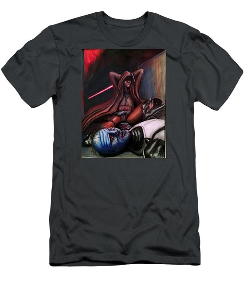 Rage Of The Jedi Men's T-Shirt (Slim Fit) by Chris Benice