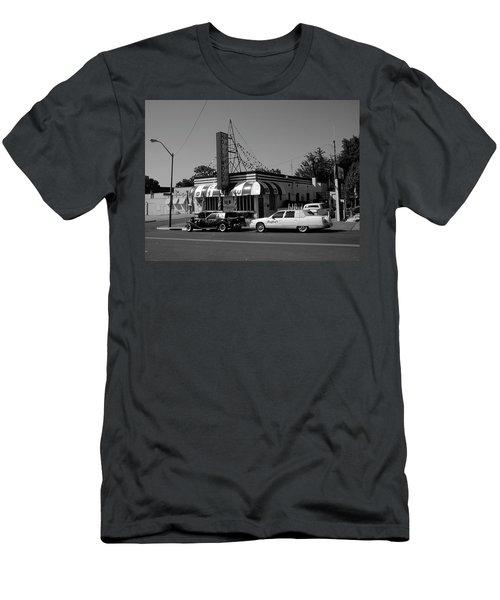 Men's T-Shirt (Slim Fit) featuring the photograph Raifords Disco Memphis A Bw by Mark Czerniec