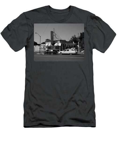 Men's T-Shirt (Athletic Fit) featuring the photograph Raifords Disco Memphis A Bw by Mark Czerniec
