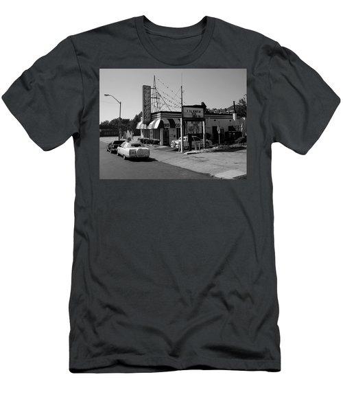 Men's T-Shirt (Slim Fit) featuring the photograph Raifords Disco Memphis B Bw by Mark Czerniec