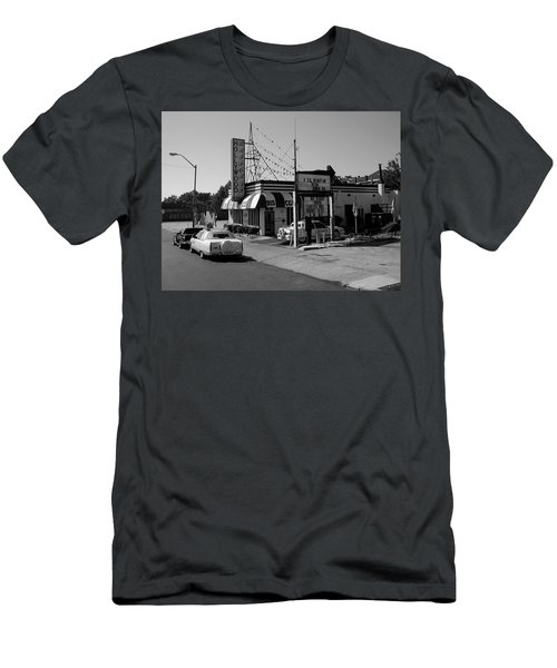Men's T-Shirt (Athletic Fit) featuring the photograph Raifords Disco Memphis B Bw by Mark Czerniec