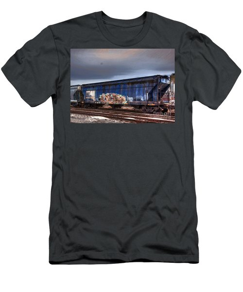 Men's T-Shirt (Slim Fit) featuring the photograph Rail Art by Robert Pearson