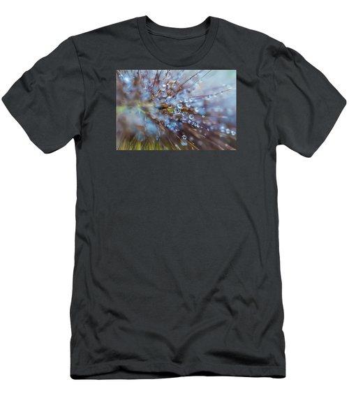Men's T-Shirt (Slim Fit) featuring the photograph Rain Drops - 9751 by G L Sarti
